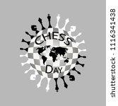 international chess day logo...   Shutterstock .eps vector #1116341438