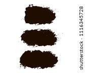 black brush strokes set... | Shutterstock .eps vector #1116345728