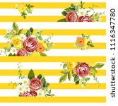 seamless striped style floral...   Shutterstock .eps vector #1116347780
