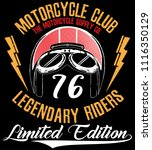 motorcycle label t shirt design ... | Shutterstock . vector #1116350129