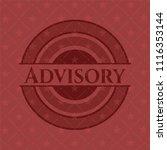 advisory red emblem | Shutterstock .eps vector #1116353144