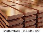 copper sheets  piles of copper... | Shutterstock . vector #1116353420
