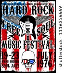 hard rock music poster photo... | Shutterstock . vector #1116356669