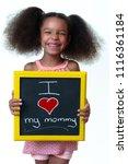 cute african american girl... | Shutterstock . vector #1116361184