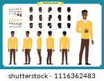 standing young black american... | Shutterstock .eps vector #1116362483