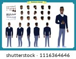standing young black american... | Shutterstock .eps vector #1116364646