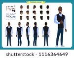 standing young black american... | Shutterstock .eps vector #1116364649