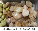 tumbled scitrine gem stone as ... | Shutterstock . vector #1116366113