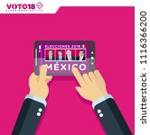 elecciones mexico 2018  mexico...   Shutterstock .eps vector #1116366200