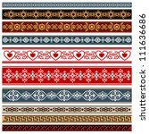 ornaments of various styles.... | Shutterstock .eps vector #111636686