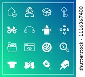 modern  simple vector icon set... | Shutterstock .eps vector #1116367400