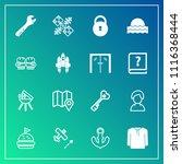 modern  simple vector icon set... | Shutterstock .eps vector #1116368444