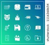 modern  simple vector icon set... | Shutterstock .eps vector #1116368654