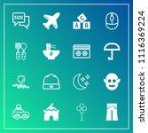 modern  simple vector icon set... | Shutterstock .eps vector #1116369224