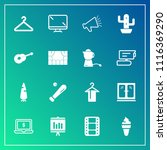 modern  simple vector icon set... | Shutterstock .eps vector #1116369290