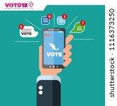 mexico elections  elecciones...   Shutterstock .eps vector #1116373250