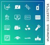 modern  simple vector icon set... | Shutterstock .eps vector #1116375716