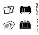 toaster kitchen appliance... | Shutterstock .eps vector #1116375749