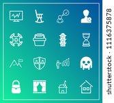 modern  simple vector icon set... | Shutterstock .eps vector #1116375878