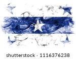 gambier islands smoke flag  ... | Shutterstock . vector #1116376238