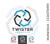 vector twister spin windmill... | Shutterstock .eps vector #1116376454
