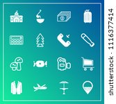modern  simple vector icon set... | Shutterstock .eps vector #1116377414
