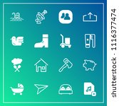 modern  simple vector icon set... | Shutterstock .eps vector #1116377474
