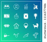 modern  simple vector icon set... | Shutterstock .eps vector #1116377486