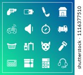 modern  simple vector icon set... | Shutterstock .eps vector #1116377510