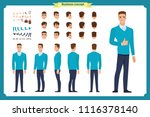 standing young businessman.... | Shutterstock .eps vector #1116378140