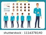 standing young businessman.... | Shutterstock .eps vector #1116378140