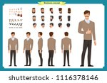standing young businessman.... | Shutterstock .eps vector #1116378146