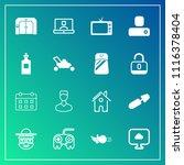 modern  simple vector icon set... | Shutterstock .eps vector #1116378404