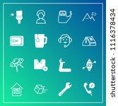 modern  simple vector icon set... | Shutterstock .eps vector #1116378434