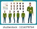 standing young businessman.... | Shutterstock .eps vector #1116378764