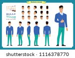 standing young businessman.... | Shutterstock .eps vector #1116378770