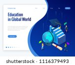 isometric education in global... | Shutterstock .eps vector #1116379493