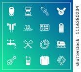 modern  simple vector icon set... | Shutterstock .eps vector #1116380234