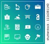 modern  simple vector icon set... | Shutterstock .eps vector #1116381140