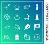 modern  simple vector icon set... | Shutterstock .eps vector #1116381200