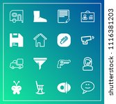 modern  simple vector icon set... | Shutterstock .eps vector #1116381203