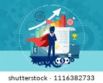 character cartoon of super hero ... | Shutterstock .eps vector #1116382733