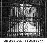 hand worked wrought iron gate... | Shutterstock . vector #1116383579