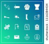 modern  simple vector icon set... | Shutterstock .eps vector #1116384434
