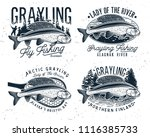 grayling fly fishing logo. the... | Shutterstock .eps vector #1116385733
