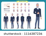 businessman. front  side  back... | Shutterstock .eps vector #1116387236
