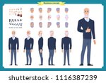 businessman. front  side  back... | Shutterstock .eps vector #1116387239
