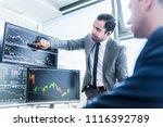 businessmen trading stocks... | Shutterstock . vector #1116392789