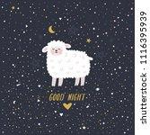 vector night illustration with... | Shutterstock .eps vector #1116395939