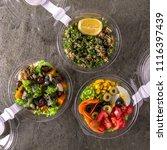 healthy light vegetarian salad... | Shutterstock . vector #1116397439